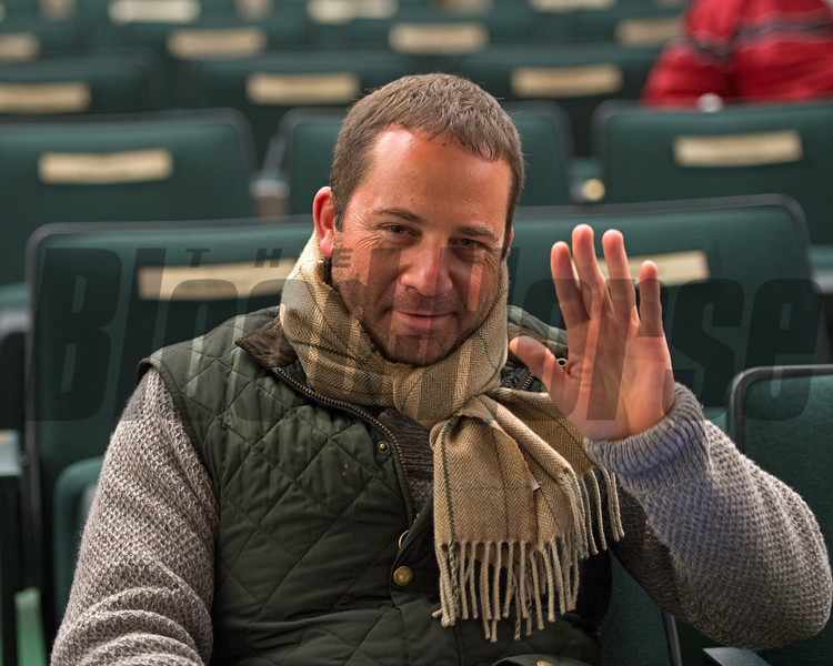David Ingordo after buying Hip 2950 Conquest Smartee from Lane's End brings $390,000 from David Ingordo<br /> Keeneland November Sales on Nov. 15, 2016, in Lexington, Ky.