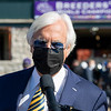 Bob Baffert in the winner's circle after Gamine with John Velazquez win the Filly and Mare Sprint at Keeneland in Lexington, Ky. on Nov. 7, 2020.