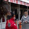 Paige Gilster looks over Hip 586 Dance Again <br /> Keeneland January Sales at Keeneland near Lexington, Ky., on Jan. 9, 2021.