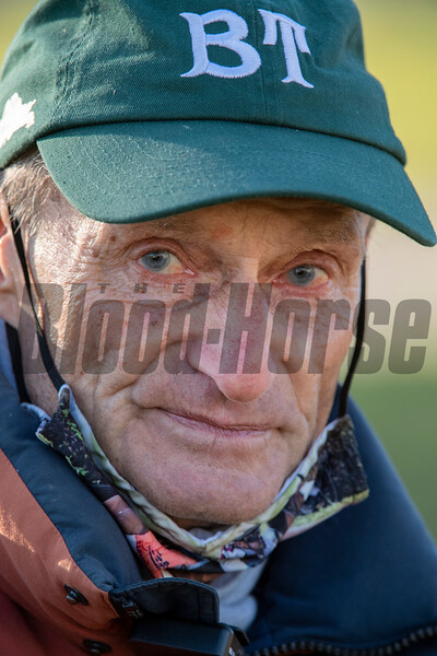 Trainer Barclay Tagg speaks with the media at Keeneland Race Course Monday Nov. 2 2020 in Lexington, KY.  Photo by Skip Dickstein