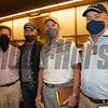 (L-R): Brian Graves, Donato Lanni, Scott Heider, Tony Lacy<br /> Keeneland September sale yearlings in Lexington, KY on September 14, 2020.