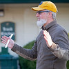Caption: Chef Marc Therrien talking about the food banks and Keeneland's involvement<br /> Behind the Scenes at Keeneland during Covid19 virus and the people, horses, and essentials needed to take care of race horses on April 2, 2020 Keeneland in Lexington, KY.