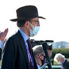 James R. Fanshawe watches the Breeders' Cup Filly and Mare Turf at Keeneland in Lexington, Ky. on Nov. 7, 2020.