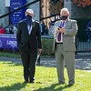 Bill Farish and Bob Elliston attend the first day of the Breeders' Cup at Keeneland in Lexington, Ky. on Nov. 6, 2020.