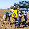 Knicks Go ridden by Joel Rosario wins the $1M Breeders' Cup Dirt Mile G1 at Keeneland Race Course Saturday, Nov. 7 2020 in Lexington, KY.  Photo by Skip Dickstein