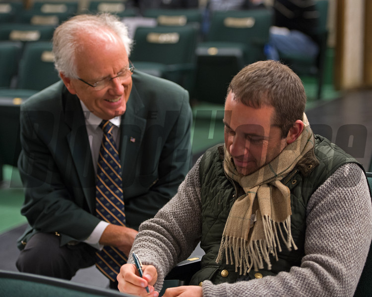 David Ingordo signing<br /> Hip 2950 Conquest Smartee from Lane's End brings $390,000 from David Ingordo<br /> Keeneland November Sales on Nov. 15, 2016, in Lexington, Ky.
