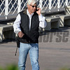 Caption:  bob Baffert on the move<br /> Scenes at Santa Anita in preparation for Breeders' Cup  in California on Oct. 27, 2014.<br /> 1Origs10_27_14 image989<br /> Photo by Anne M. Eberhardt