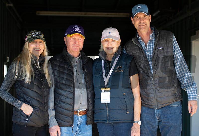 (L-R): Andrea, Richard, Randi, and Gary Mandella<br /> at  Oct. 28, 2019 Santa Anita in Arcadia, CA.