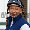 Caption:  Mike Smith<br /> Scenes at Santa Anita in preparation for Breeders' Cup  in California on Oct. 27, 2014.<br /> 1Origs10_27_14 image589<br /> Photo by Anne M. Eberhardt