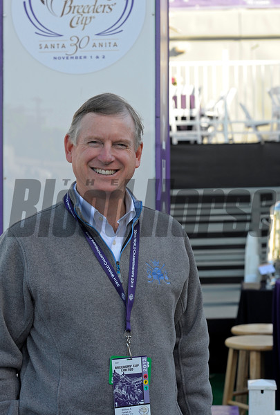Caption:  Breeders' Cup chairman Bill Farish<br /> Breeders' Cup horses and connections at Santa Anita near Acadia, California, preparing for Breeders' Cup raceways on Nov. 1 and Nov. 2, 2013.<br /> BCWorks1Jpegs_10_29_13 image675<br /> Photo by Anne M. Eberhardt