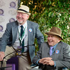 Caption: Fred Bradley, right, with co-owner of Groupie Doll<br /> Breeders' Cup races at Santa Anita near Arcadia, California, on Nov. 3, 2012.<br /> BCRACES2012        DirtMilet   image<br /> Photo by Anne M. Eberhardt