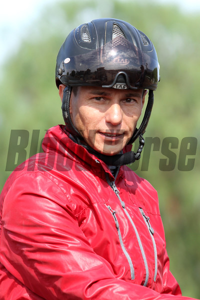 Brazilian born jockey TIAGO PEREIRA, winner of the Dubai World Cup 2010, at Santa Anita 06.27.15. Photo by Helen Solomon