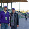 Dean Reeves, left, and Randy Hill, partner with Spain Burg<br /> Morning scenes at Santa Anita in preparation for 2016 Breeders' Cup on Nov. 2, 2016, in Arcadia, CA.