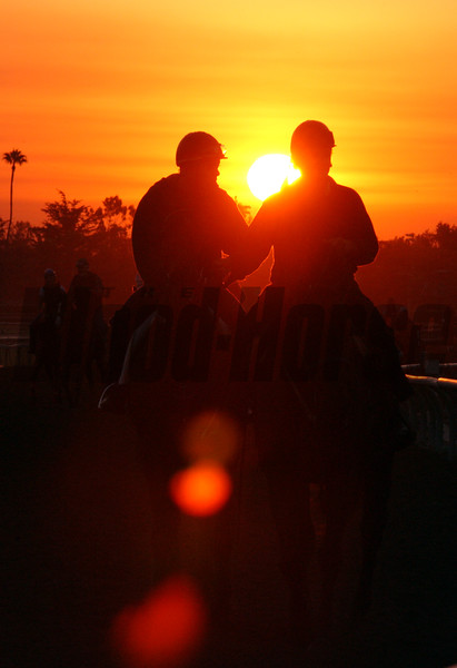 Breeders' Cup Week at Santa Anita, Oct. 18-24, Arcadia, California. <br /> CAPTION: Sunrise<br /> BC10/22Origs1<br /> image9<br /> Photo by Anne M. Eberhardt