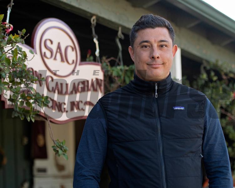 Simon Callaghan<br /> at  Oct. 28, 2019 Santa Anita in Arcadia, CA.
