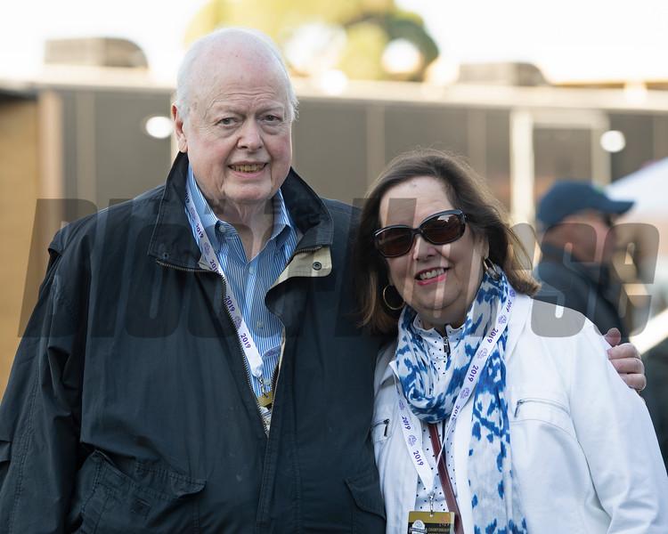 Mr. and Mrs. Tracy Farmer<br /> at  Oct. 31, 2019 Santa Anita in Arcadia, CA.