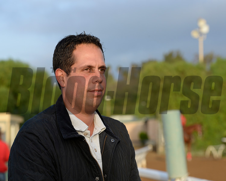 Caption:  Phil D'Amato<br /> Scenes at Santa Anita in preparation for Breeders' Cup  in California on Oct. 27, 2014.<br /> 1Origs10_27_14 image<br /> Photo by Anne M. Eberhardt
