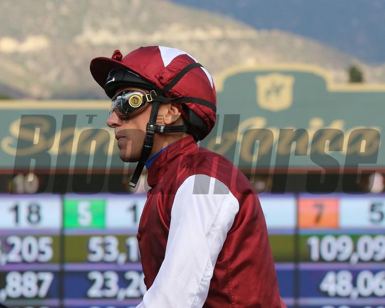 Lanfranco Dettori at Santa Anita Park on November 2, 2019. Photo By: Chad B. Harmon