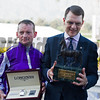 l-r, Seamus Heffernan and Aidan O'Brien<br /> Highland Reel in Turf (gr. I) at Santa Anita on Nov. 5, 2016, in Arcadia, California.