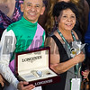 Mike Smith and his mom<br /> Arrogate edges out California Chrome to win the Classic (gr. I) at Santa Anita on Nov. 5, 2016, in Arcadia, California.