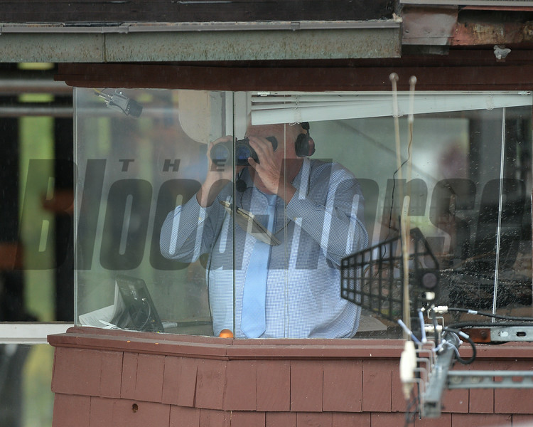 Tom Durkin's retirement ceremony following his final call at Saratoga.<br /> Coglianese Photos