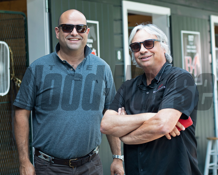 (L-R): Hanzly Albina and Ron Blake<br /> Saratoga training and sales scenes at Saratoga Oklahoma track and Fasig-Tipton in Saratoga Springs, N.Y. on Aug. 6, 2021.