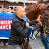 Gufo with Joel Rosario wins the Resorts World Casino Sword Dancer Stakes (G1T) at Saratoga Race Course in Saratoga Springs, N.Y., on Aug. 28, 2021.