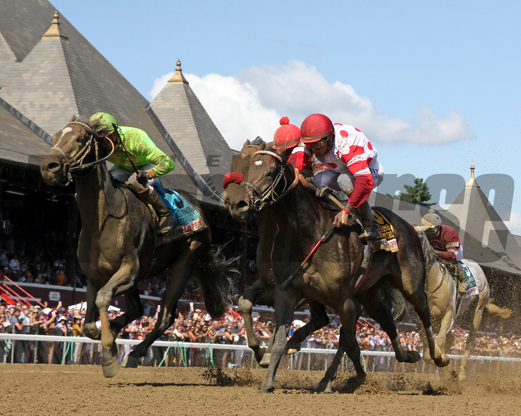 Mind Control with John Velazquez win the 35th Running of The H. Allen Jerekens (GI) at Saratoga on August 24, 2019. Photo By: Chad B. Harmon