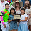 Luis Saez with family. Bella Sofia with Luis Suez wins the Longines Test (G1). <br /> Saratoga racing scenes at Saratoga in Saratoga Springs, N.Y. on Aug. 7, 2021.