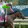 Bella Sofia with Luis Suez wins the Longines Test (G1). <br /> Saratoga racing scenes at Saratoga in Saratoga Springs, N.Y. on Aug. 7, 2021.