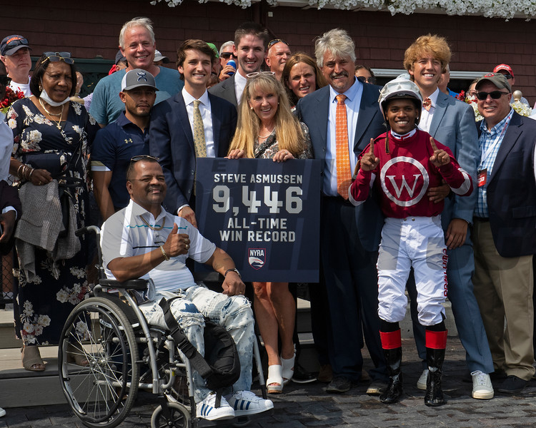 Steve Asmussen sets record. <br /> Saratoga racing scenes at Saratoga in Saratoga Springs, N.Y. on Aug. 7, 2021.