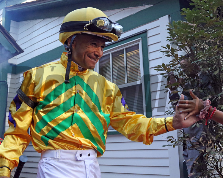 Mike Smith - Jockey Introductions prior to the 150th Running of the Travers (GI) at Saratoga on August 24, 2019. Photo By: Chad B. Harmon