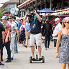 Videographer at Saratoga Race Course in Saratoga Springs, N.Y., on Aug. 28, 2021.