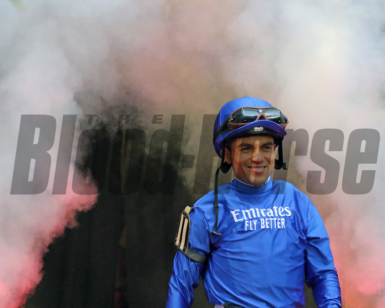 Joel Rosario - Jockey Introductions prior to the 150th Running of the Travers (GI) at Saratoga on August 24, 2019. Photo By: Chad B. Harmon