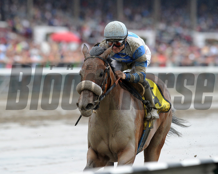 Sweet Reason confirmed her love for sloppy going when the recent maiden winner splashed away to an easy victory in the $300,000 Spinaway Stakes (gr. I) Sept. 1 at Saratoga Race Course.<br /> Photo: Coglianese Photos