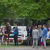 Lexitonian in paddock for the Forego (G1) and trainer Jack Sisterson on right (blue jacket) at Saratoga on Aug. 28, 2021. Photo: Anne M. Eberhardt