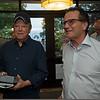 (L-R): Larry Best and John Sikura<br /> Sales scenes at Fasig-Tipton in Saratoga Springs, N.Y. on Aug. 10, 2021.