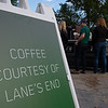 Lane's End coffee stand at Whitney stand on Oklahoma track. <br /> Saratoga racing scenes in Saratoga Springs, N.Y. on Aug. 5, 2021.