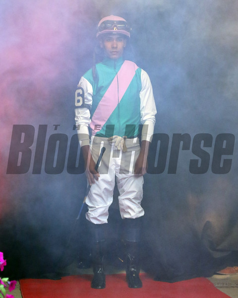 Jose Ortiz - Jockey Introductions prior to the 150th Running of the Travers (GI) at Saratoga on August 24, 2019. Photo By: Chad B. Harmon