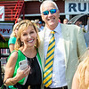 (L-R): Patti Reeves and Dean Reeves at Saratoga Race Course in Saratoga Springs, N.Y., on Aug. 28, 2021.