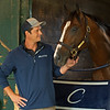 Front Run the Fed with trainer Ciao Caramori<br /> Saratoga racing scenes in Saratoga Springs, N.Y. on Aug. 5, 2021.