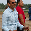 Trainer Rudy Rodriguez. Bella Sofia with Luis Suez wins the Longines Test (G1). <br /> Saratoga racing scenes at Saratoga in Saratoga Springs, N.Y. on Aug. 7, 2021.