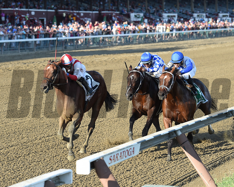 Practical Joke wins the Hopeful Stakes (gr. I) at Saratoga Sept. 5, 2016.<br /> Coglianese Photos/Chelsea Durand