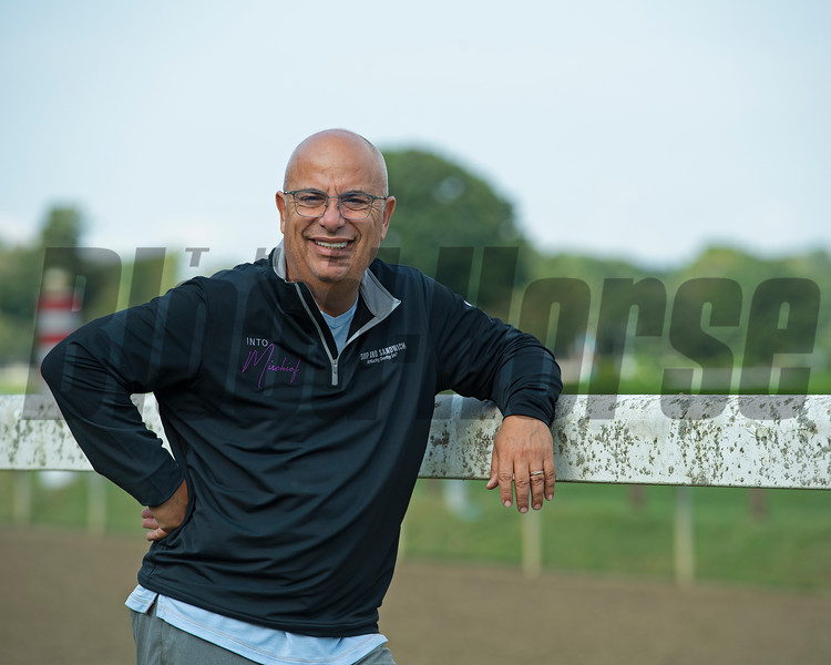 Mark Casse<br /> Horses in training during Travers week in Saratoga on Aug. 27, 2021.