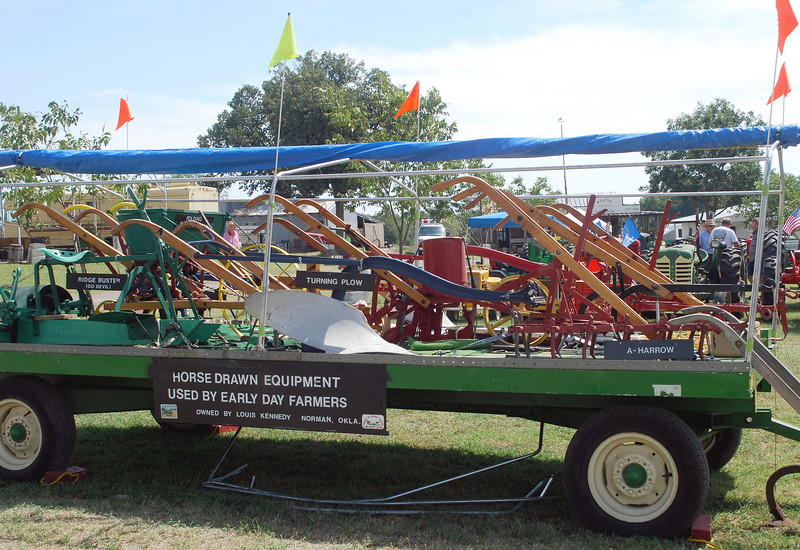 horse drawn equipment display