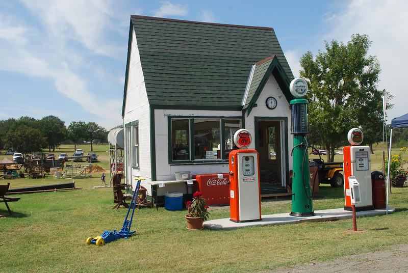gas station corner