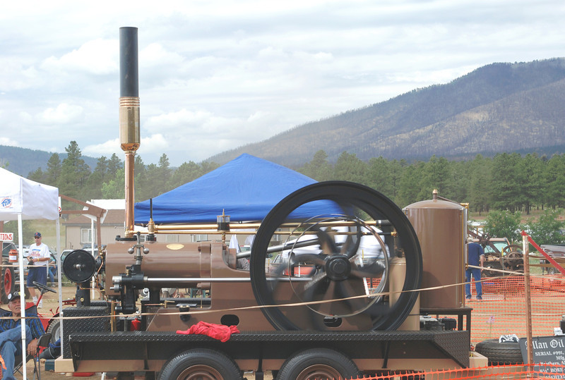 "Allan Oil Engine c1903 side, Build by Allan Brothers, Aberdeen Scotland. 19hp @ 230 rpm Flywheels 54"" x 6½"", 9½"" baore x 17"" stroke, weights 3 ton."