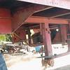 Brown trailer under