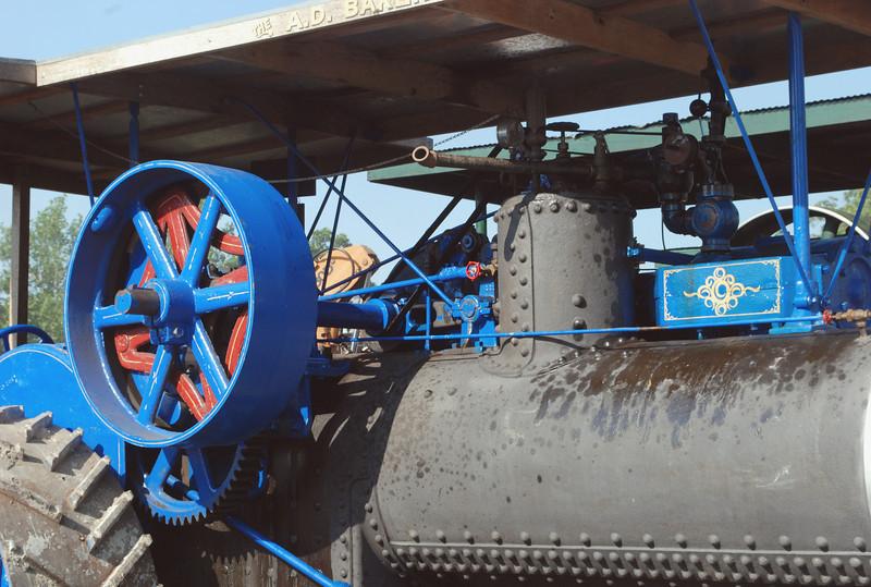 A D Baker engine boiler-flywheel detail