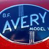 B F  Avery 1947 Model V badge